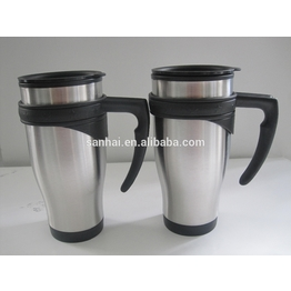 Cup cars double wall Stainless steel water bottle vacuum cup for thermo cup handle