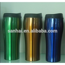 high quality factory price 15oz double wall tumbler with push lids