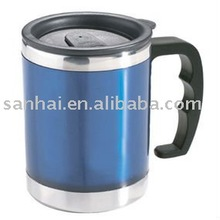 Stainless Steel auto mug.