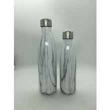 17oz and 25oz Double wall matte marble stainless steel vacuum bottle