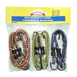 6PC Assorted Bungee Cords