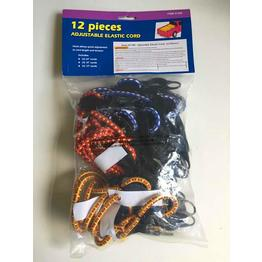 12PC Adjustable Elastic Cord
