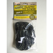 6PC Camo Elastic Tie Downs