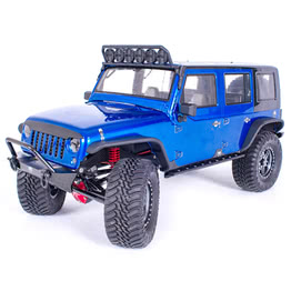 Traction Hobby Founder 4WD off road electric rc 1/8 Scale Trail Crawler blue car
