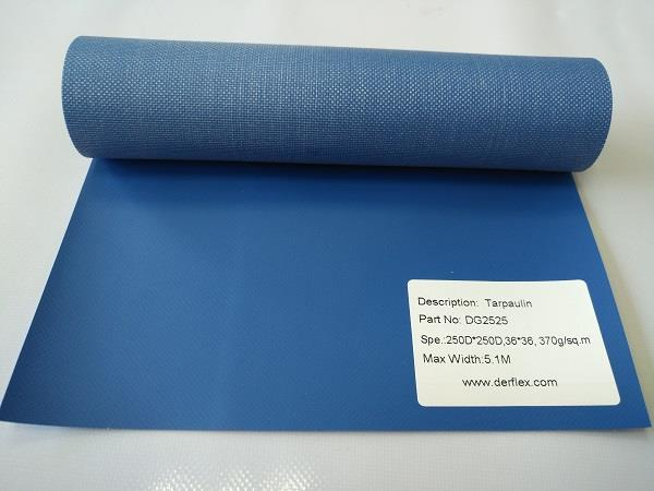 DG2525: PVC coated polyester fabric, 250D*250D, 36*36