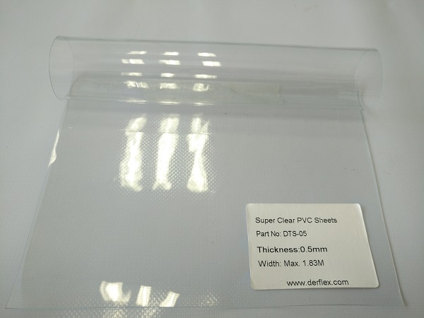 DTS-05: clear vinyl, thicknes 0.5mm