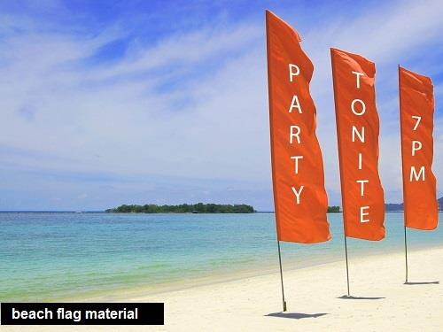 sublimation textiles for beach flag