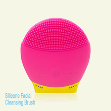 2018 OEM hot selling newest mini spa Silicone Sonic cleanser Facial Rechargeable Electric Face Cleaning Brush