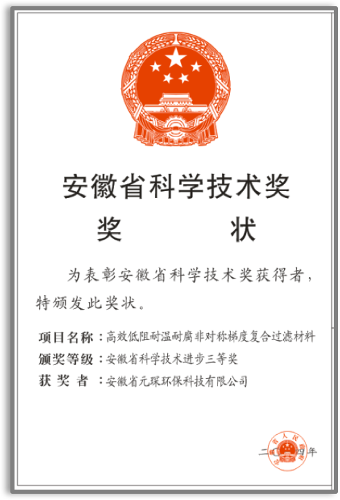Anhui Science and Technology Award