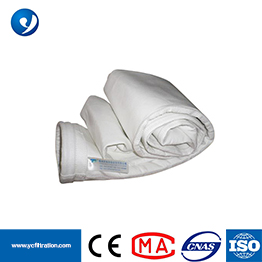Polyester Stripe Anti-static Needle Felt Dust Filter Bag with free sample filter fabric and bag