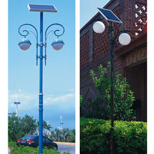 Post & column mount two lamps fixture decoration solar LED garden light path lights