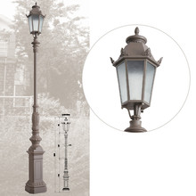 galvanized 4 meter decorative garden light pole classic outdoor lighting street light column