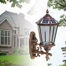 led solar antique garden boundary wall light with ce rohs certificate