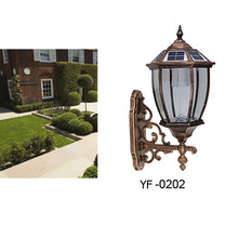 classical design garden used outdoor 1w led wall lamp solar wall light