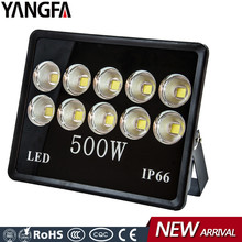 High power 1000w equivalent outdoor ip66 cob 500 watt 500w led flood light