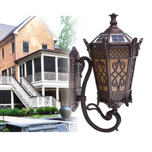 ip54 waterproof European style antique swing arm led solar wall lamp