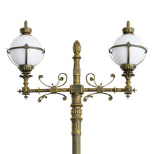 Die-cast aluminum antique outdoor garden light post top light