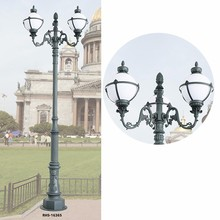classical garden light outdoor with three ball lamp lanscape lighting led gardenlight
