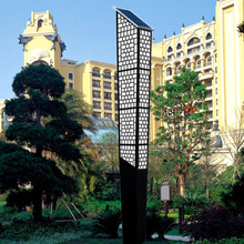 oriental garden solar lights fence post light