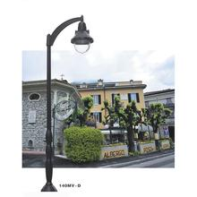 Euro style antique design steel pole galvanized yard light poles