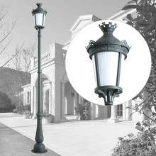 decorative cast aluminum classical outdoor street lamp post