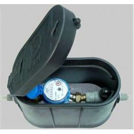 Plastic meter box with high pressure resistance