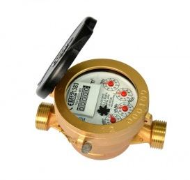 Single jet liquid filled (semi dry) type water meter