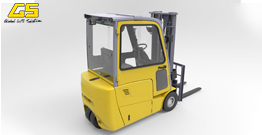 GS  Electric Forklift (3-Wheel)  with Cabin