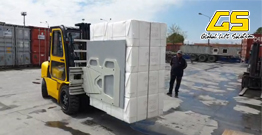 GS Diesel Forklift  with Carton Clamp service for IKEA in Europe