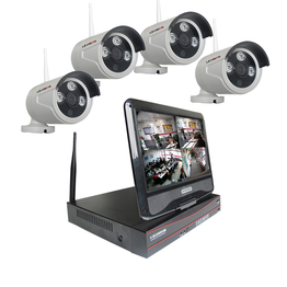 LS VISION 4CH CCTV System 1.3MP 960P Motion Detection Alarm Wireless IP Network Camera NVR Kits with 10.1