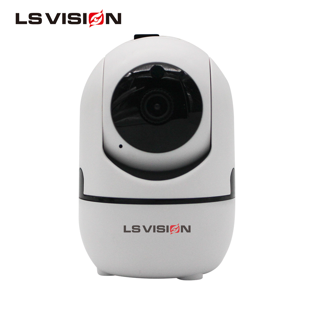 LS VISION Indoor Mini 2MP HD 1080P Wireless Panoramic Smart Auto Tracking PTZ Camera support Cloud Storage Two Way Audio
