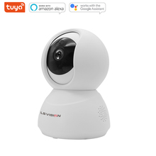 LSVISION Tuya Smart Life 2MP WIFI Panoramic Auto Tracking PTZ Security  Camera Compatible with Amazon Echo Google Home
