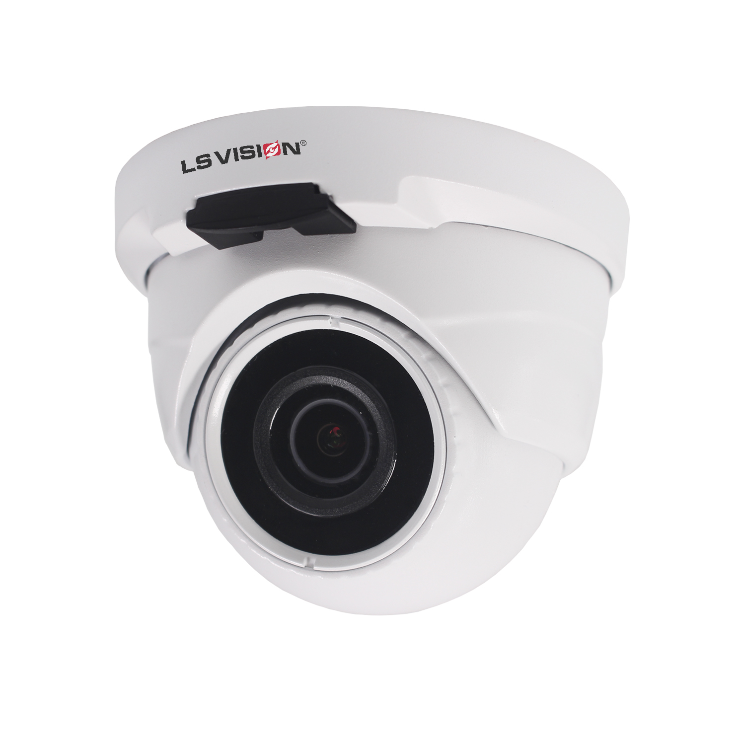 LS VISION H.265 2MP Ultra-low  Illumination Black Light Full Color Starlight POE Audio Dome IP Camera