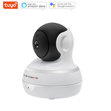LS VISION Mini Tuya Smart Life 1080P Full HD 2MP Infrared Auto Tracking Panoramic Wireless Surveillance Ptz IP Camera