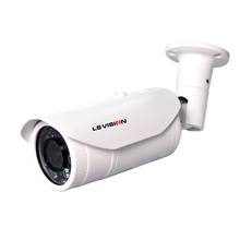 LS VISION 4MP H.265 Varifocal Lens 2.8-12mm Voice Alarm Outdoor Waterproof IP66 POE Bullet IP Camera with Two Way Audio