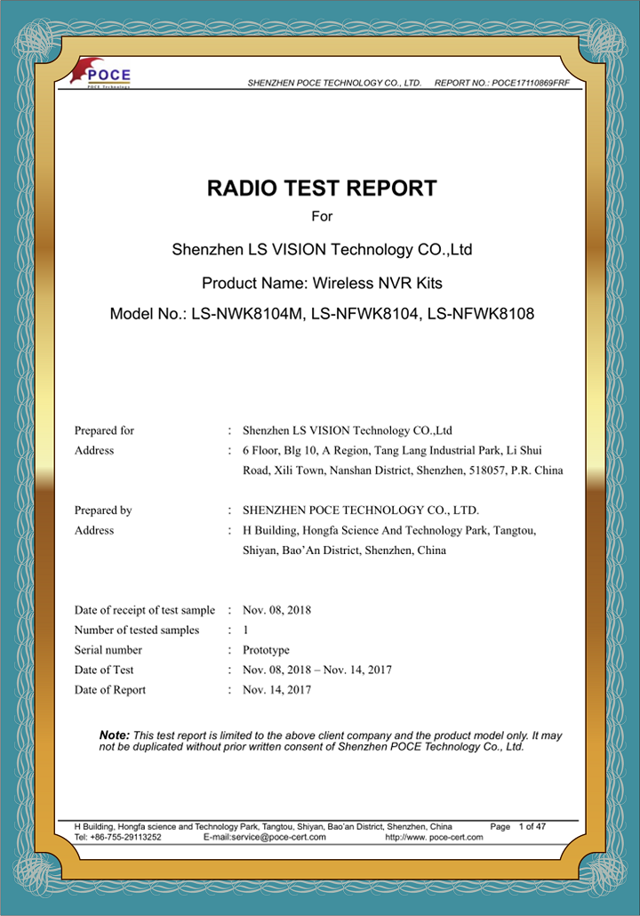 Radio Test Report