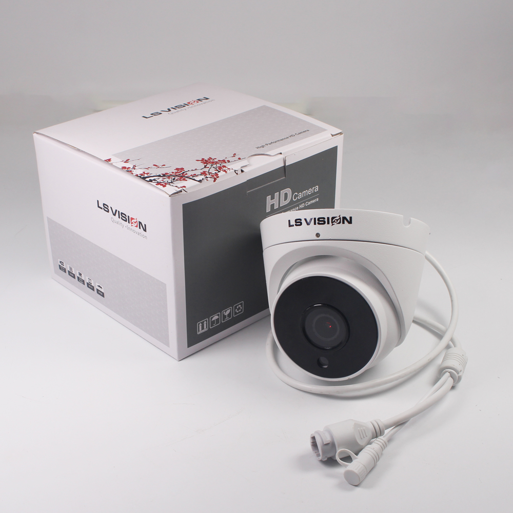 LS VISION 5MP H.265 IR Audio Recording POE Cctv IP Dome Camera with Microphone