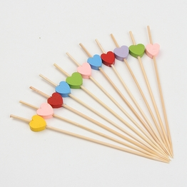 Natural Color Small Skewers Thin  Bamboo Toothpicks