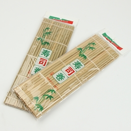 Natural flat bamboo stick sushi roll pad