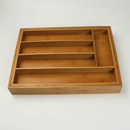 China supply bamboo kitchen drawer storage box
