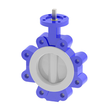 Lined Wafer End Lug Type Butterfly Valve