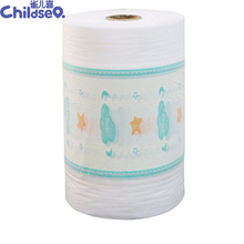 Baby Adult Diapers Raw Material Protective PE Clothlike Print Breathable Backsheet Film Non woven Lamination Film Backsheet.