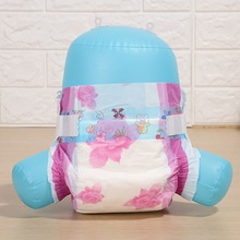 New Hot sale OEM Baby Diapers with Magic Tape cute pink flower PE back sheet free samples diaper nappy manufacturer in China