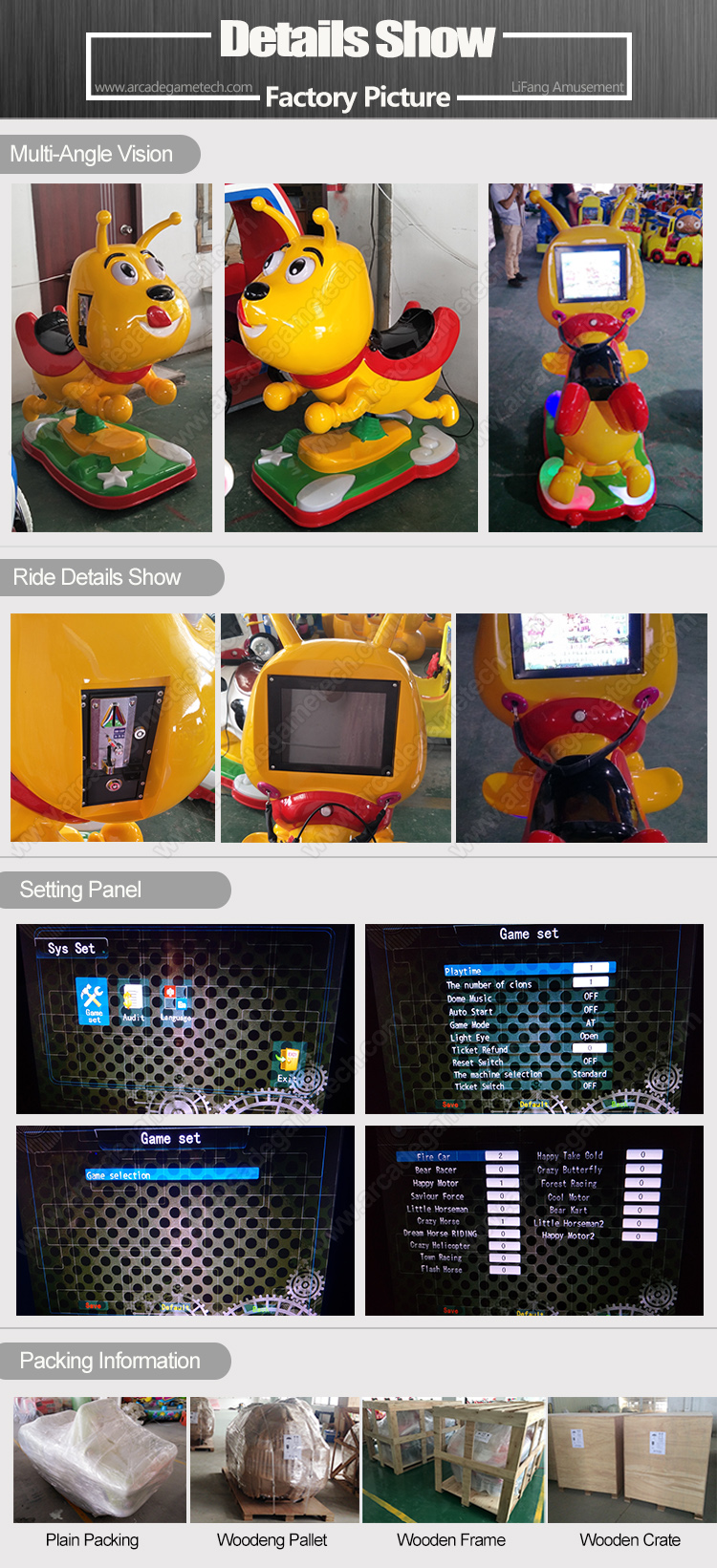 <Coin Operated Kidde Rides With Interactive Games>