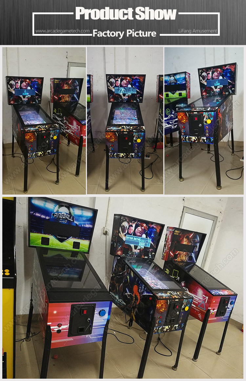 <Pinball Arcade Game Machine with 66 Games>