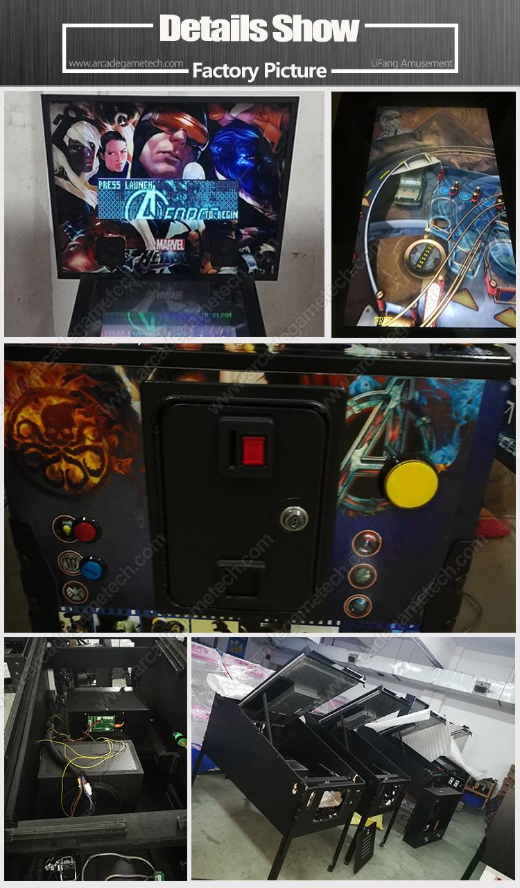 <Multi Games Pinball Machine>
