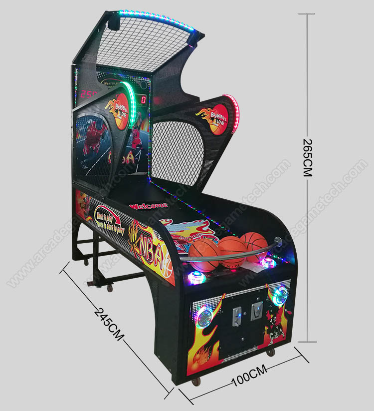 <coin operated hoops arcade game>
