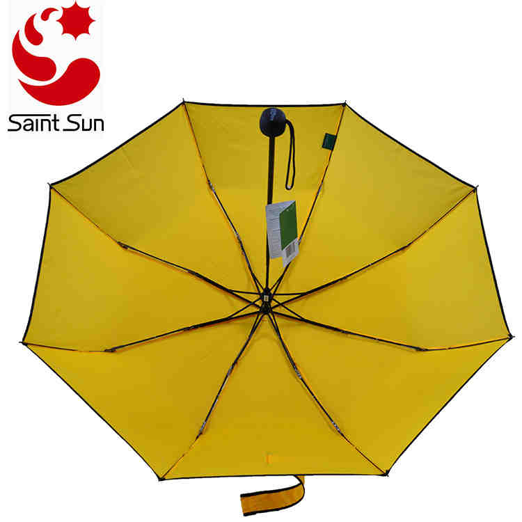 Manual open Windproof Travel Umbrella with Piping