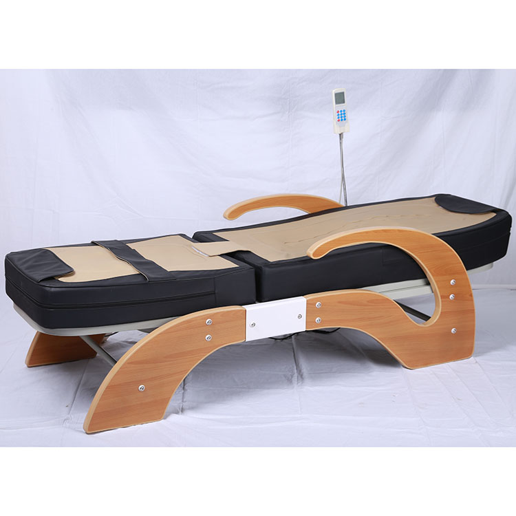 Lever electric thermal infrared full body therapy jade massage bed