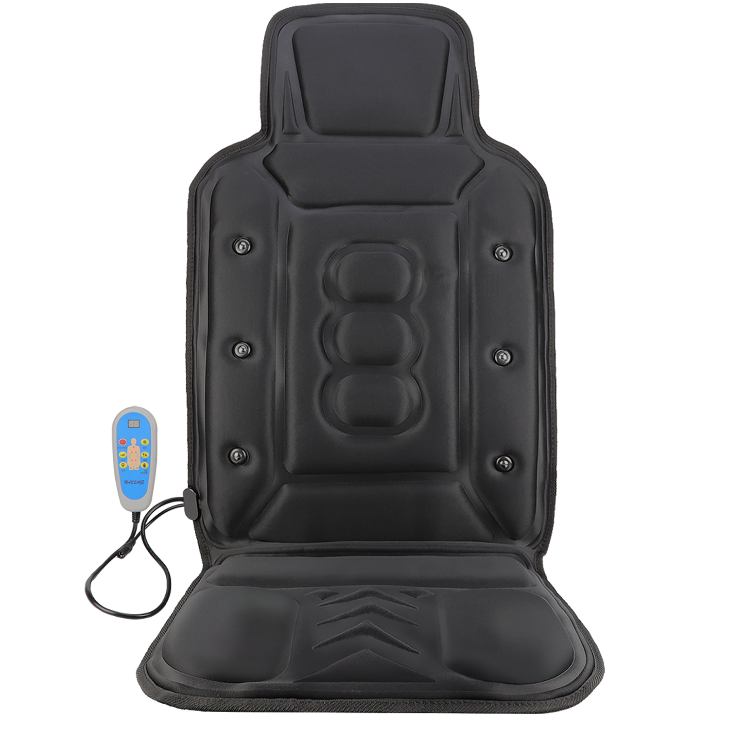 Luxury & medium massage car cushion with vibration 、heat and magnet function